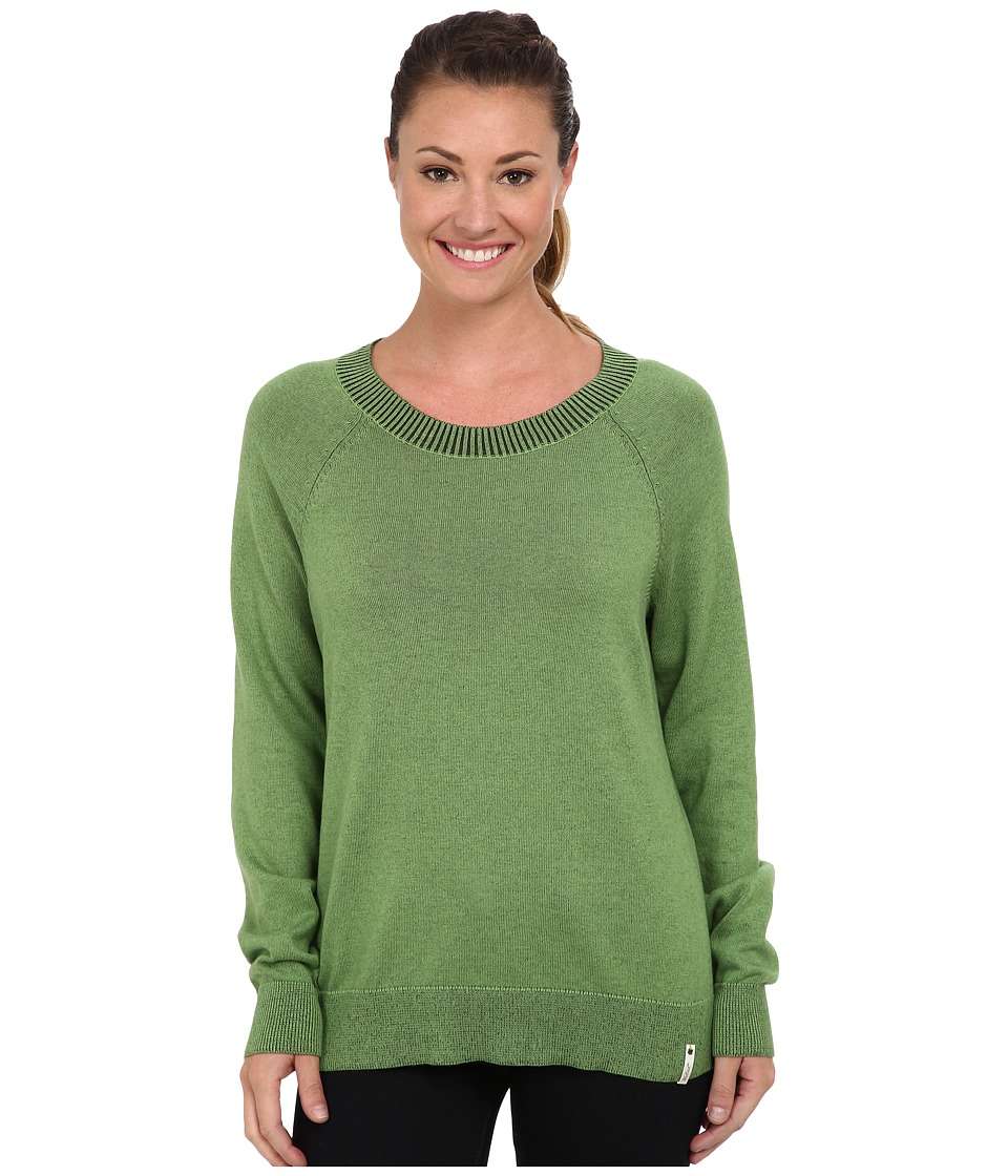 Woolrich - Plum Run Open Neck Crew Sweater (Clover) Women's Sweater