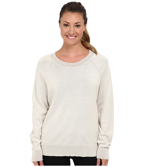 Woolrich - Plum Run Open Neck Crew Sweater (Ecru) Women