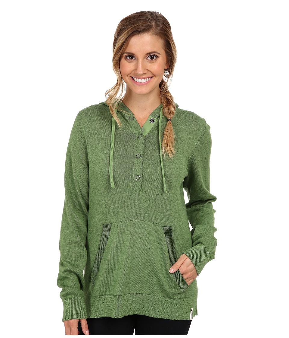 Woolrich - Plum Run Hooded Sweater (Clover) Women's Sweatshirt