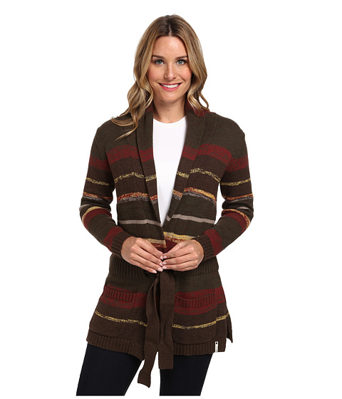 Woolrich - Clover Twisted Stripe Cardigan (Loden) Women's Sweater