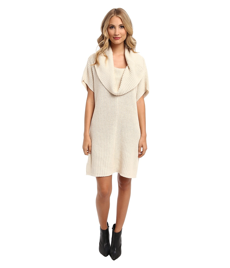 BCBGeneration - Cowl Neck Tunic Sweater Top NPU1S930 (Nude) Women's Sweater