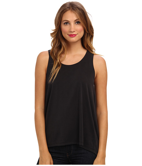 Splendid - Back Pleat Top (Black) Women's Sleeveless