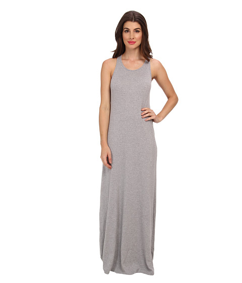 Splendid - Column Midi Dress (Heather Grey) Women