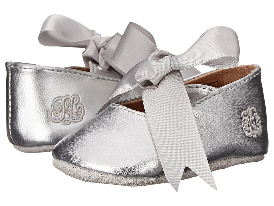 Polo Ralph Lauren Kids - Briley Soft Sole (Infant/Toddler) (Silver Metallic) Girls Shoes
