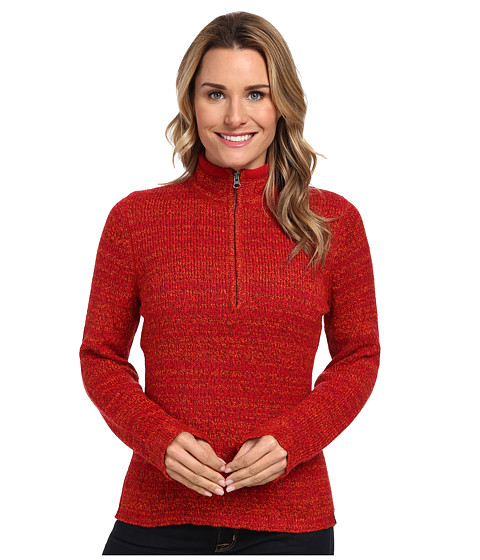 Woolrich - Tanglewood 3/4 Zip Sweater (Cherry Red) Women's Sweater