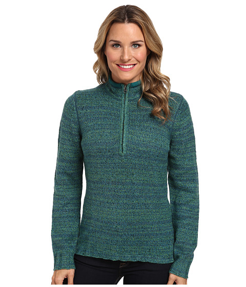 Woolrich - Tanglewood 3/4 Zip Sweater (Mineral Blue) Women's Sweater