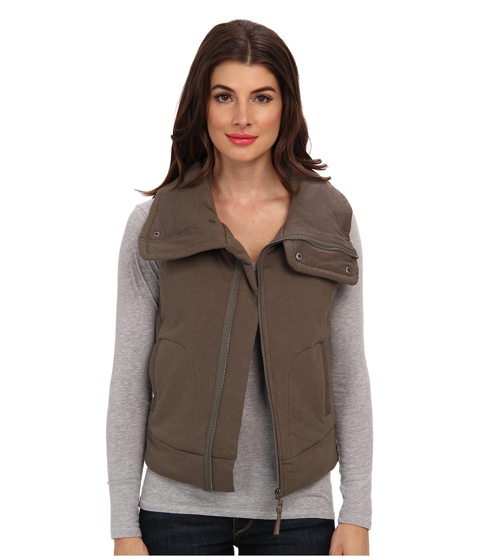 Splendid - Quilted Moto Vest (Olive) Women's Vest