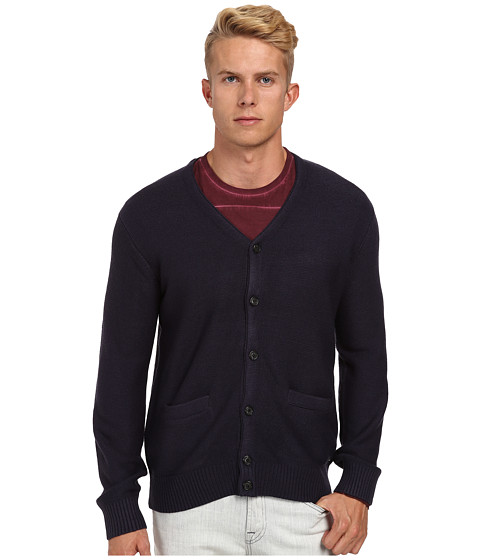 RVCA - Gerry Cardigan (Night Shadow) Men's Sweater