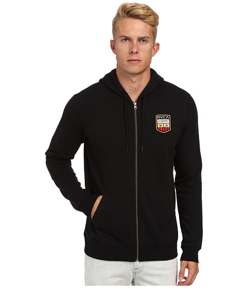 RVCA - Plates Fleece Zip (Black) Men