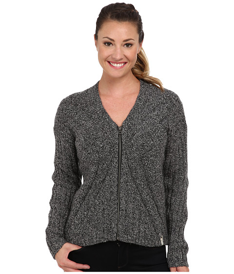 Woolrich - Relaxed Interlaken Cardigan (Black Marl) Women's Sweater