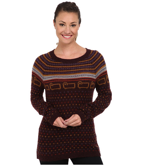 Woolrich - Bateau Fairisle Mohair Sweater (Burgundy) Women's Sweater