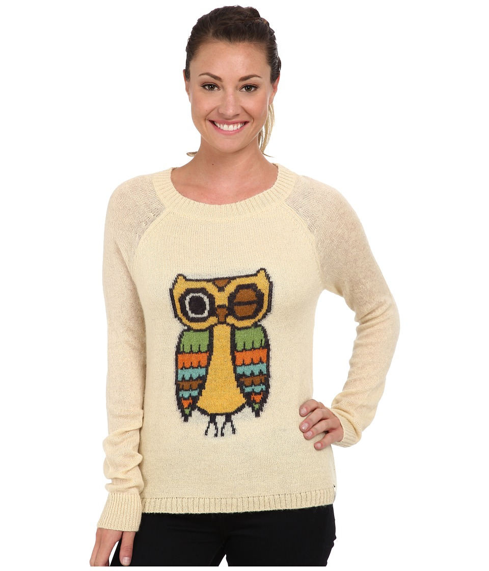 Woolrich - Motif Mohair Crew Sweater (Wool Cream Owl) Women's Sweater