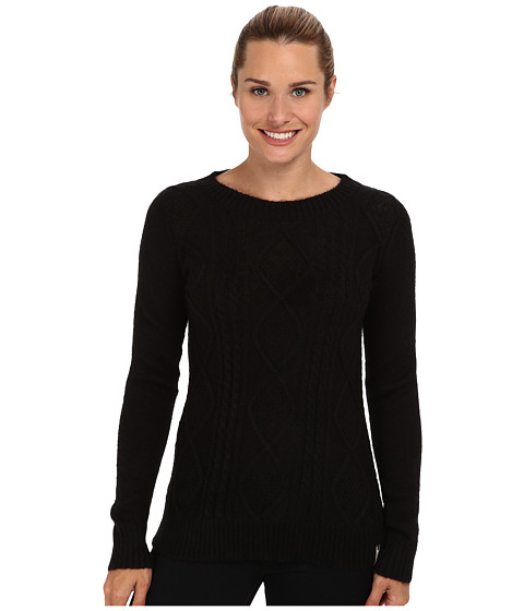 Woolrich - Cable Mohair Sweater (Black) Women's Sweater