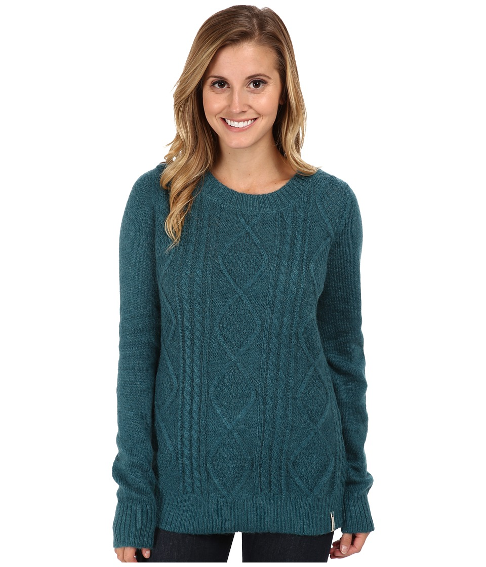 Woolrich - Cable Mohair Sweater (Mineral Blue) Women