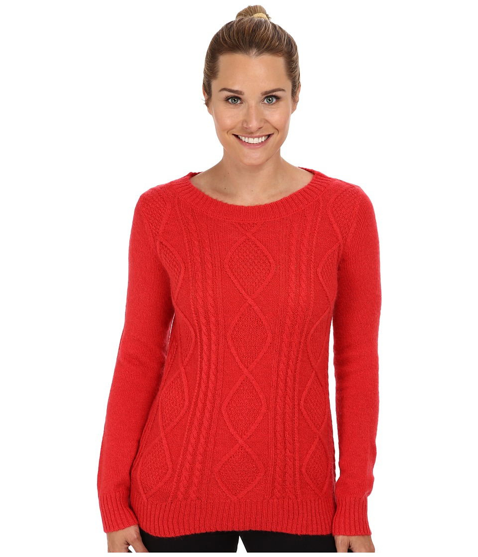 Woolrich - Cable Mohair Sweater (Poppy) Women
