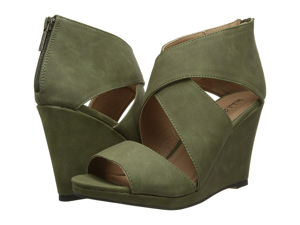 Michael Antonio - Gabina (Olive) Women's Wedge Shoes