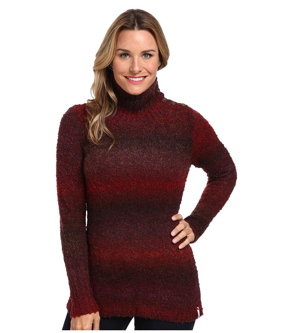 Woolrich - Westwind Pullover Boucle Sweater (Deep Ruby Space Dye) Women's Sweater