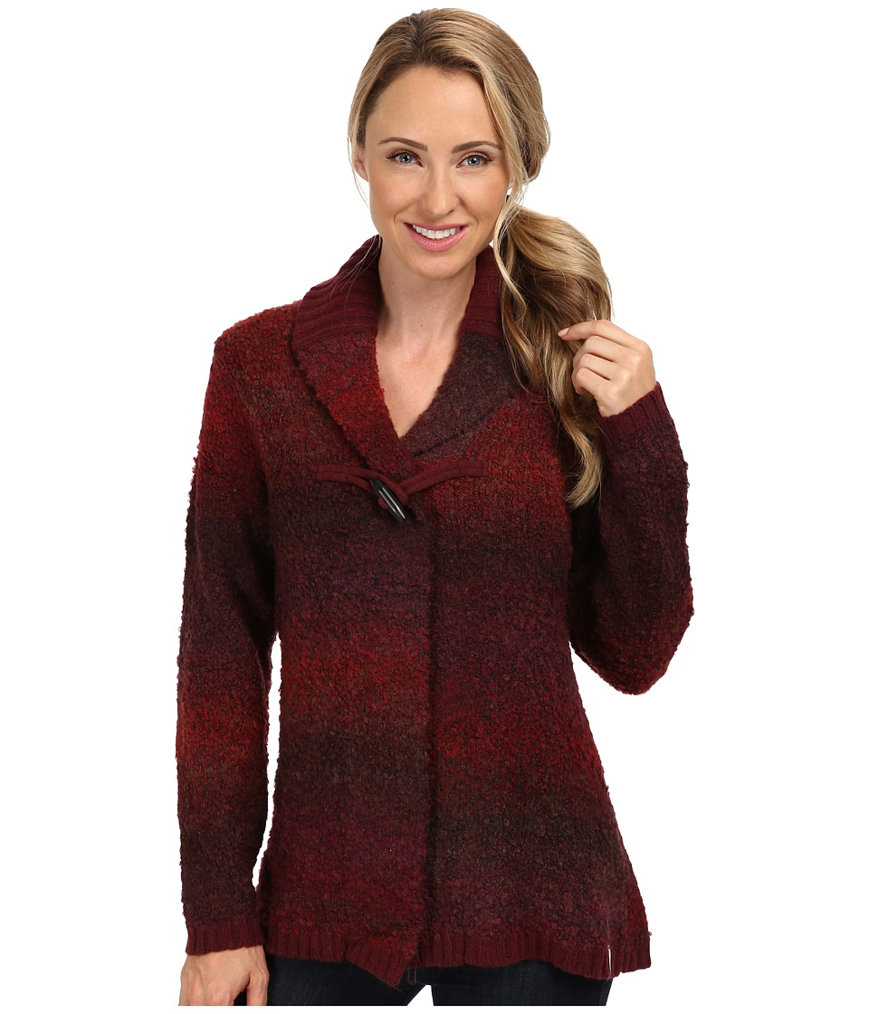 Woolrich - Westwind Boucle Cardigan Sweater (Deep Ruby Space Dye) Women