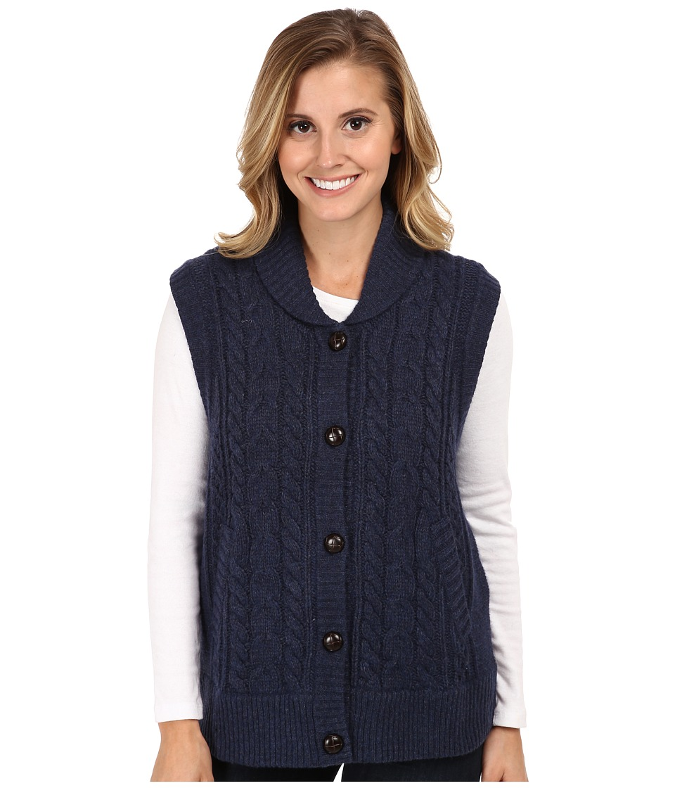 Woolrich - Shannon Cable Sweater Vest (Navy Heather) Women's Vest