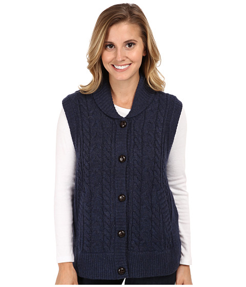 Woolrich - Shannon Cable Sweater Vest (Navy Heather) Women