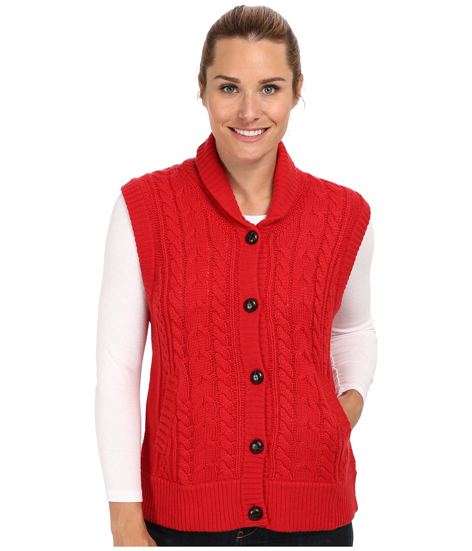 Woolrich - Shannon Cable Sweater Vest (Poppy) Women's Vest