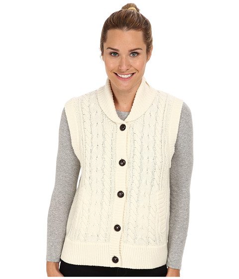 Woolrich - Shannon Cable Sweater Vest (Wool Cream) Women's Vest