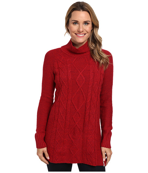 Woolrich - Shannon Cable Tunic Turtleneck (Cardinal Mouline) Women