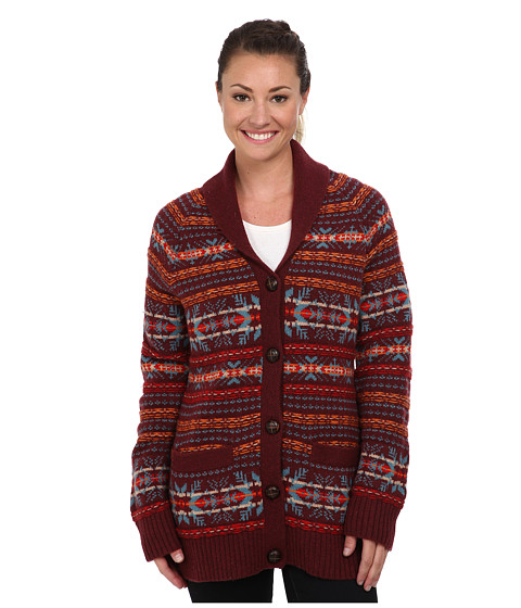 Woolrich - Darlington Wool Cardigan (Fig) Women's Sweater