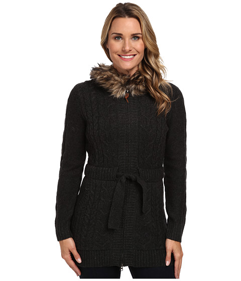 Woolrich - Hannah Zip Front Cable Cardigan Sweater (Onyx Heather) Women's Sweater