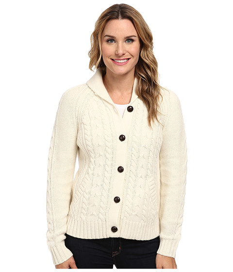 Woolrich - Hannah Short Cable Cardigan Sweater (Wool Cream) Women