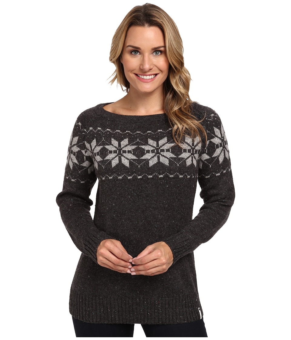 Woolrich - Vintage Snow Wool Sweater (Dark Charcoal Heather) Women's Sweater