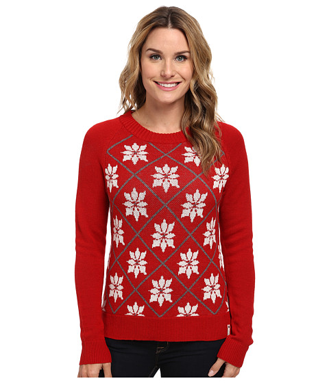 Woolrich - Poinsettia Holiday Sweater (Poppy) Women