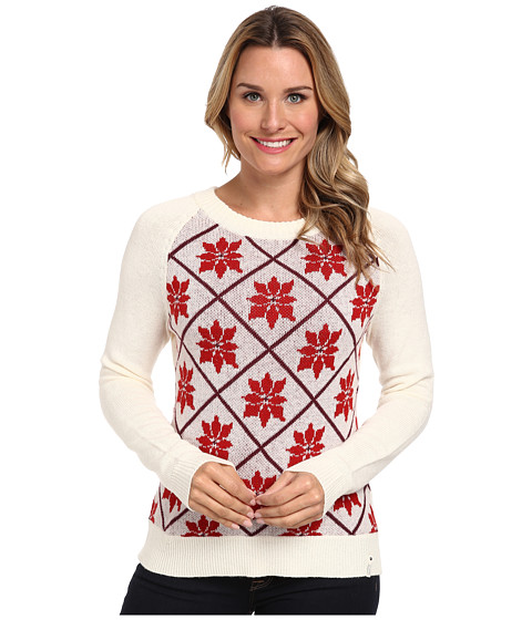 Woolrich - Poinsettia Holiday Sweater (Wool Cream) Women