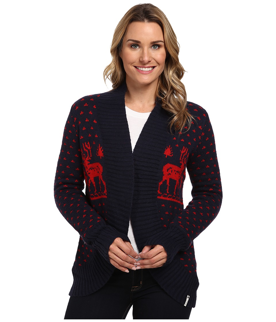 Woolrich - Holiday Reindeer Wrap Sweater (Deep Indigo) Women's Sweater