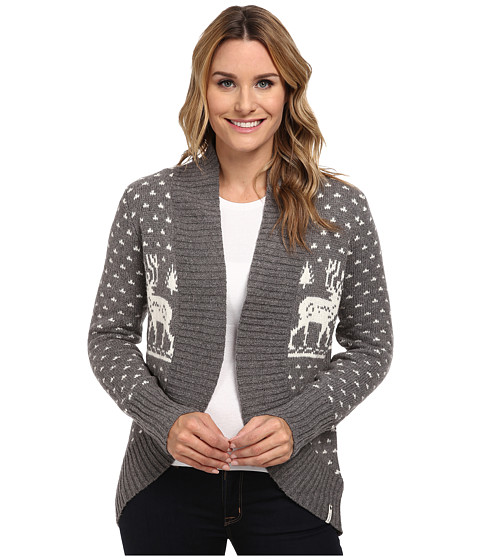 Woolrich - Holiday Reindeer Wrap Sweater (Gray Heather) Women