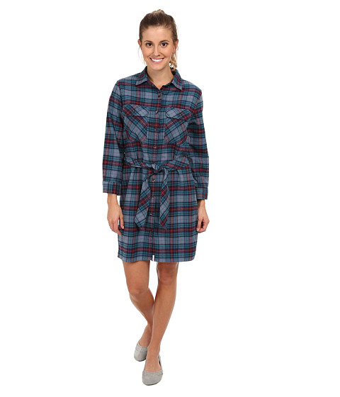 Woolrich - Pemberton Flannel Shirt Dress (Nocturnal Tartan) Women
