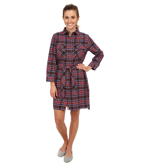 Woolrich - Pemberton Flannel Shirt Dress (Trail Brown) Women