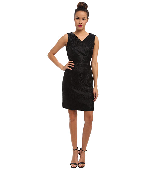 Apparel-Tahari by ASL David EW (Black) Women's Dress