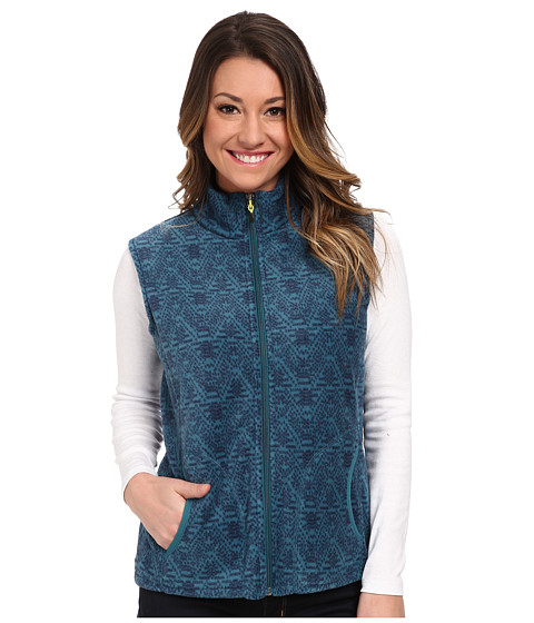 Woolrich - Andes Printed Fleece Vest (Mineral Blue) Women