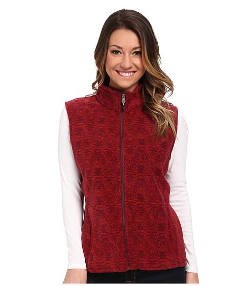 Woolrich - Andes Printed Fleece Vest (Deep Ruby) Women