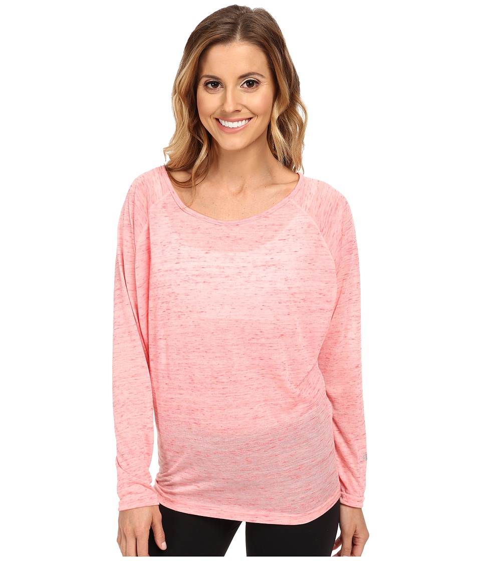 New Balance - Inspire Pullover Top (Bright Cherry Heather) Women's Long Sleeve Pullover