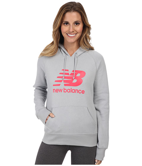 New Balance - Essentials Pullover Hoodie (Silver Mink) Women