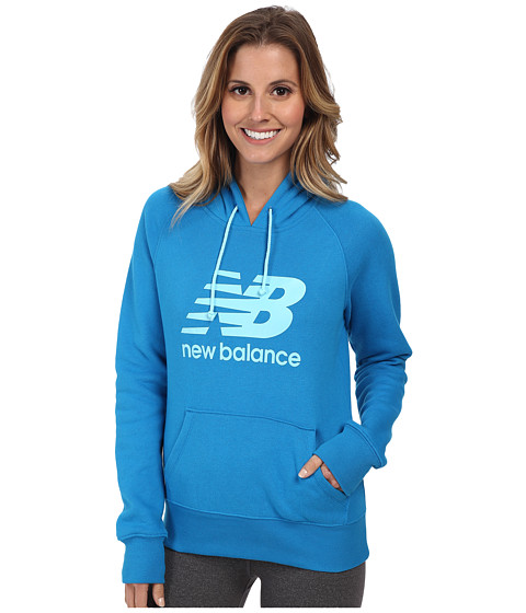 New Balance - Essentials Pullover Hoodie (Wave Blue) Women
