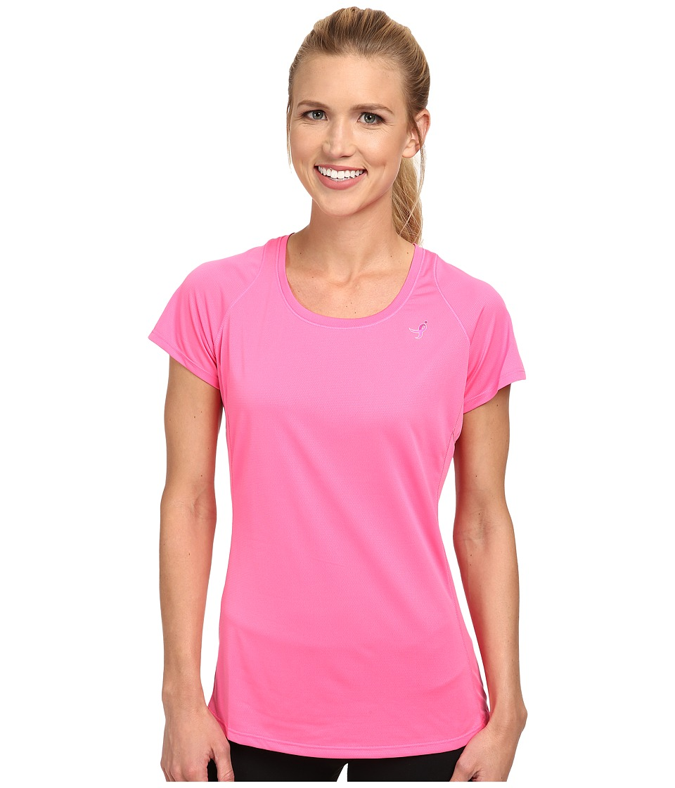 New Balance - Accelerate S/S Tee (Amp Pink/Amp Pink) Women's Short Sleeve Pullover