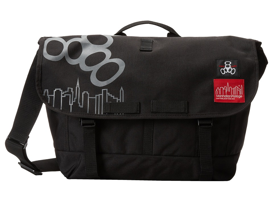 Triple Eight - NYC Bike Messenger Bag (Black) Messenger Bags