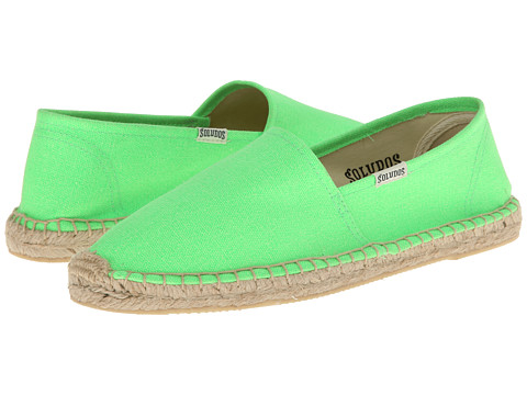 Soludos - Original Canvas Dali (Neon Lime Green) Women's Slip on Shoes