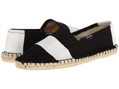 Soludos - Original Barca Sailor Stripe (Black/White) Women's Slip on Shoes