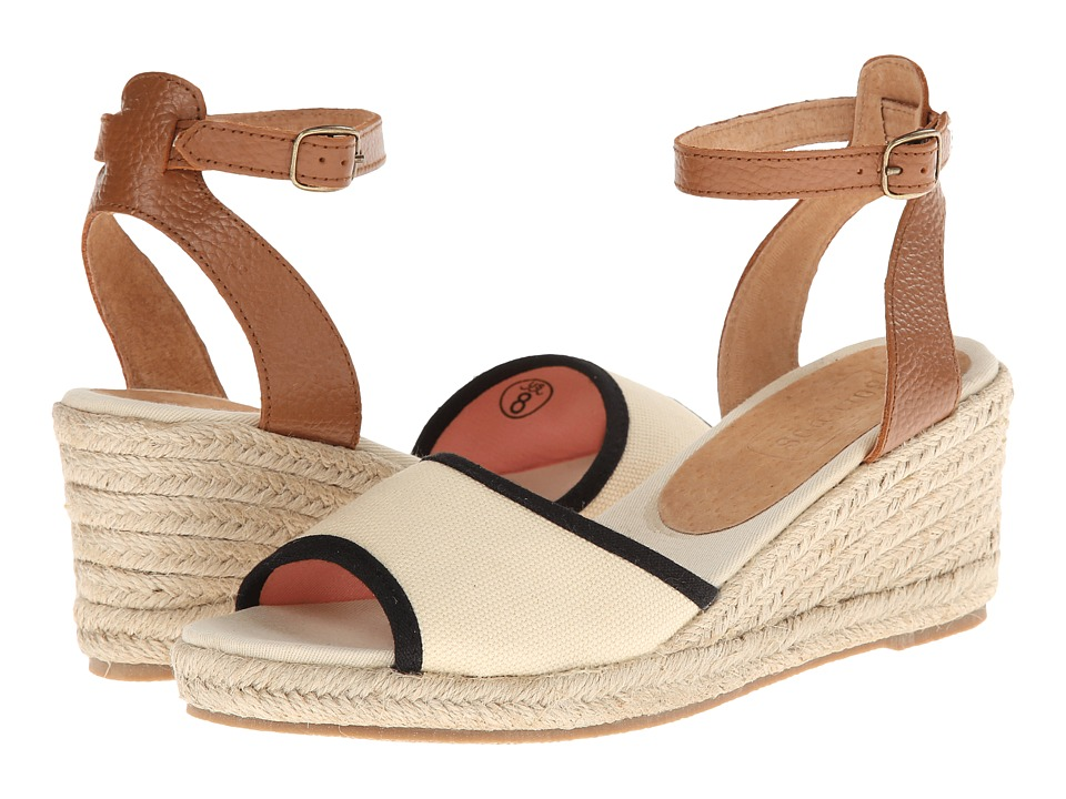 Soludos - Wedge Sandal (Linen Natural/Black) Women