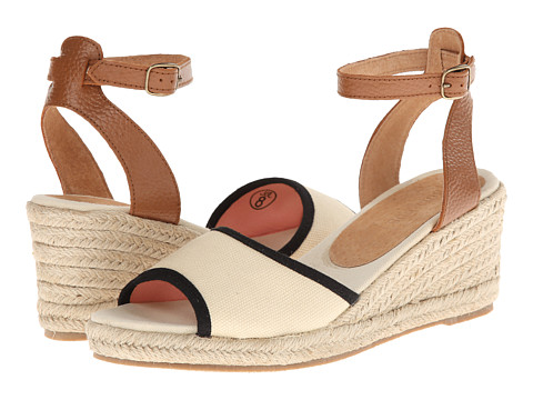 Soludos - Wedge Sandal (Linen Natural/Black) Women's Wedge Shoes