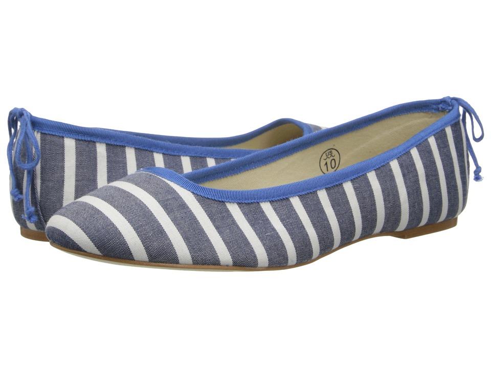 Soludos - Ballet Flat (Light Navy/White Classic Stripe) Women